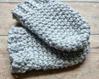 Baby Fingerless Mittens- 100% organic cotton