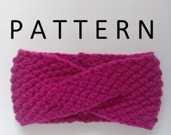 Double Knitting Headband Pattern : Knit turban pattern Etsy