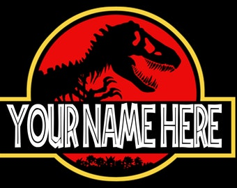 Jurassic Park Personalized Logo