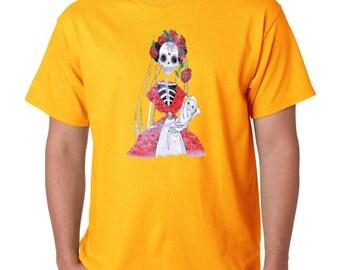 Day of Dead Skeleton Mother Skull T-shirt Sugar Skull Shirts