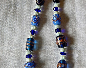 Artisan Beaded Blues necklace