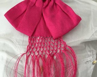 Mexican Charro Moño Bow Tie Fuchsia Rosa Mexicano Handcrafted