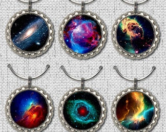 Wine Glass Charm, Space Wine Charm, Galaxy Wine Charm, Wine Charm, Glass Charm, Space, Galaxy, Gift, Wine Lover Wine Charm Gift