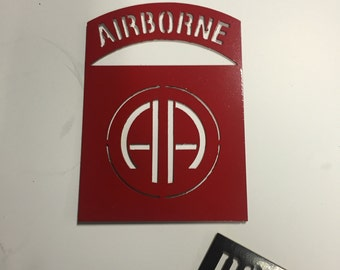82d Airborne steel wall hanging
