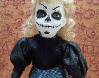 Day of the Dead Doll, Sugar Skull Doll, Zombie Doll, Undead Doll