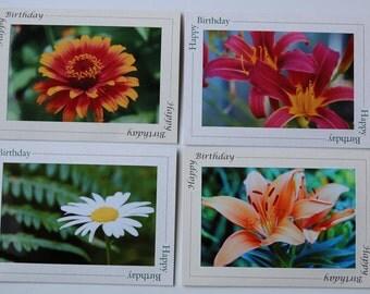 LoJo Photo Cards - Flower Birthday cards