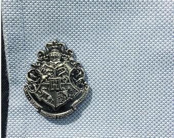 Harry Potter Hogwarts School Crest Cufflinks (one pair)