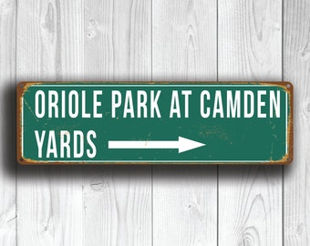 ORIOLE PARK At Camden Yards Sign, Vintage style Oriole Park Sign, Oriole Park Sign, Orioles, Baltimore Orioles, baseball Gift, Orioles Gifts