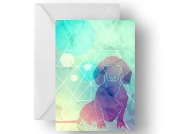 Dapper Dachshund blank greeting card- dachshund greeting card, dog card, dachshund birthday card, wiener dog greeting card, Birthday card