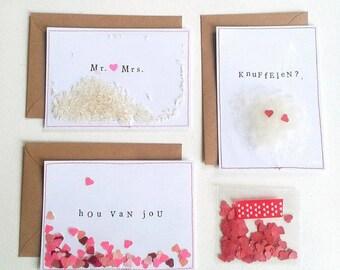 LIEFDE! I set van 3 I Valentijnskaart / Valentine Postcards