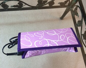Purple Curling Iron Case