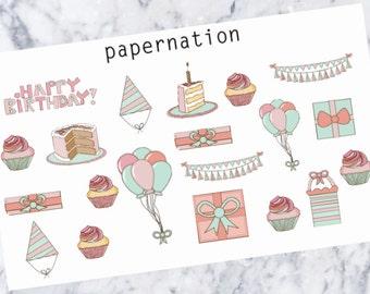 Birthday //Planner Stickers