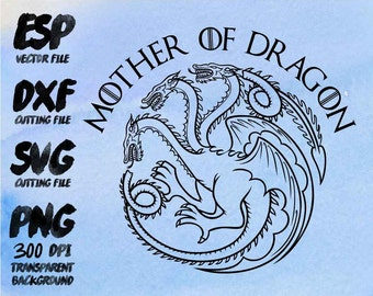 Mother of dragon  Clipart , SVG Cutting , ESP Vectors files , T shirt , iron on , sticker ,Personal Use
