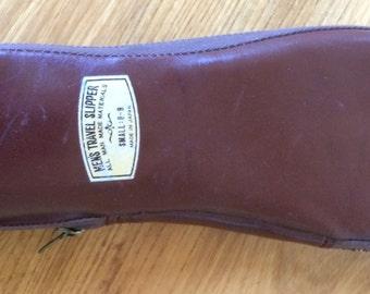 Vintage Men's Travel Slippers