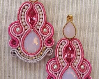 Steva pink earrings