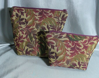 Cosmetic Bags, Make-up Bags, Zippered Bags, Zippered Pouches