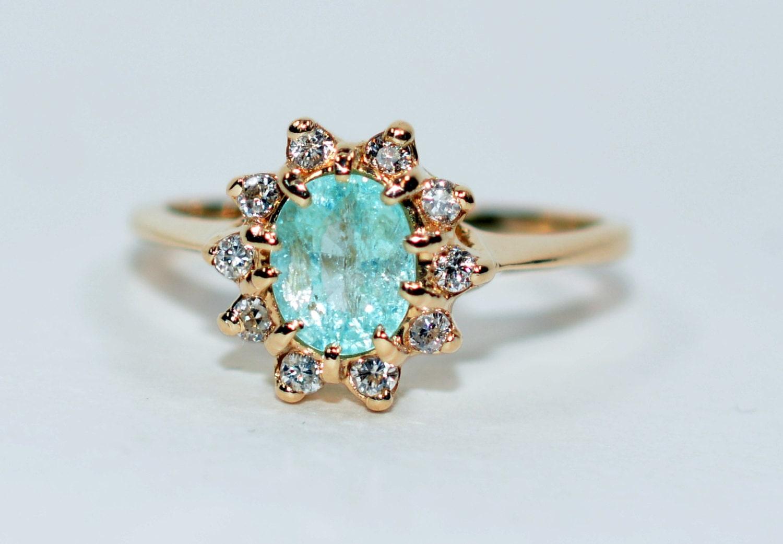 20 Sale Mesmorizing 1 50tcw Paraiba Tourmaline Amp Diamond