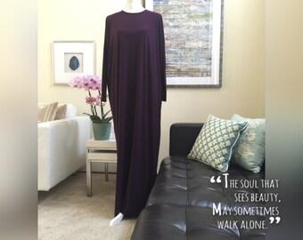 Jersey Long Sleeve Flowing Maxi Dress