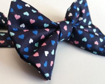 Hearts bow tie. neck tie