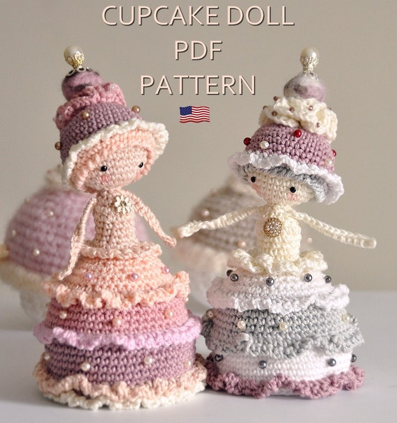 Cupcake doll ENGLISH PDF digital crochet pattern crochet