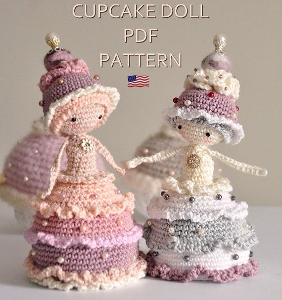 Crochet Cupcake Doll Pattern : Cupcake doll ENGLISH PDF digital crochet pattern crochet