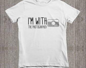 I'm With The Photographer Kids T-Shirt, Photography, Camera, Assistant