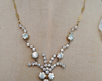 Vintage Rhinestone Necklace - NRU247