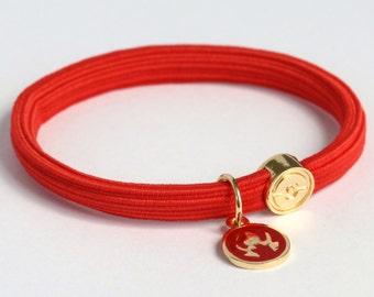 PKMN Fire Type Hair Tie Bracelet