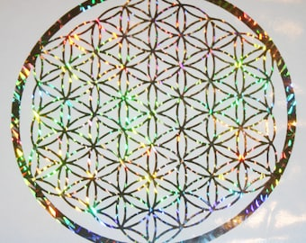 Flower of Life vinyl Decal Holographic