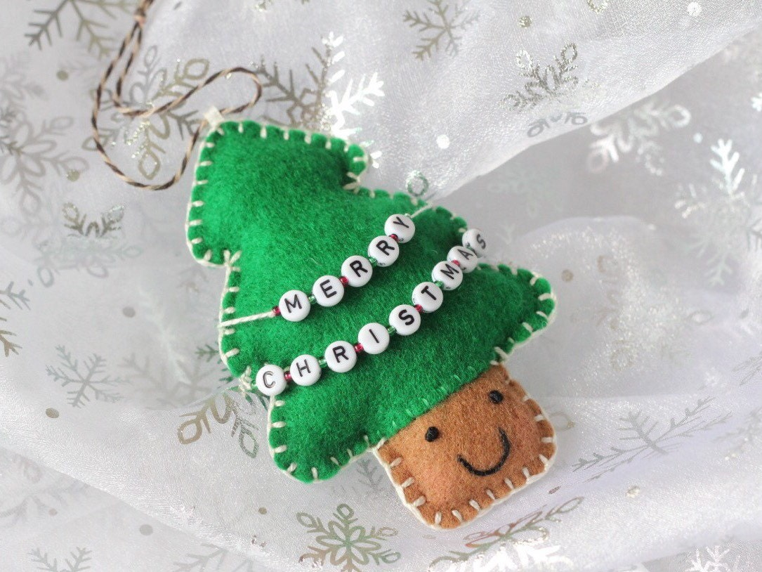 Christmas Tree Christmas Ornaments Personalised Christmas