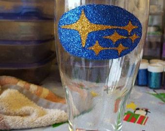 Car lovers beer glass
