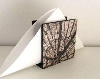 Wooden napkin holder / Wooden napkin stand / Desk napkin holder / Table centerpiece / Kitchen table decor