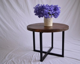 Rustic round coffee table Etsy