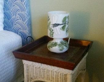 Handpainted Lamp, Dragonfly Lamp, Lamp, nature theme lamp, table lamp, accent lamp, modern lamp, whimsical lamp,