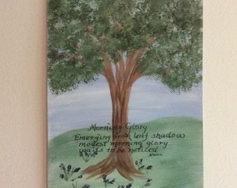 Acrylic Painting, Haiku, Summer, Seasons
