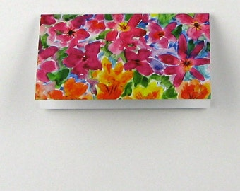 Mini Gift Cards Folded , Floral Garden Design