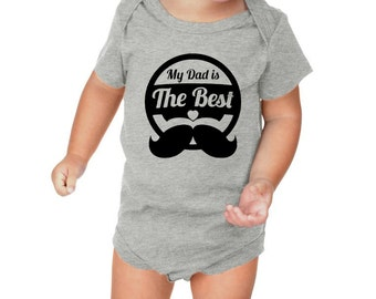 My Dad Is The Best Mustache Baby Shower Gift