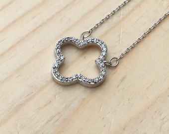 Open Clover Necklace 925 / Sterling Silver