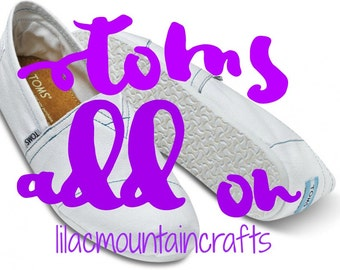 TOMS painted shoes  - Add On ONLY! - Womens Sizes