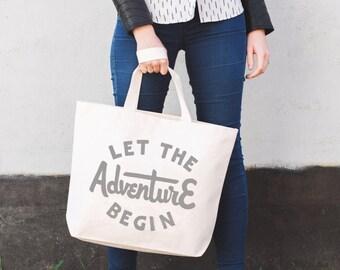 Let the Adventure Begin Canvas Bag