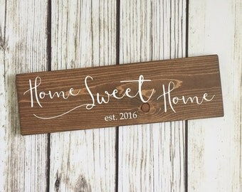 Customizable Home Sweet Home Sign // wood wall sign // home sweet home // wall decor // home decor // gallery wall sign // established sign