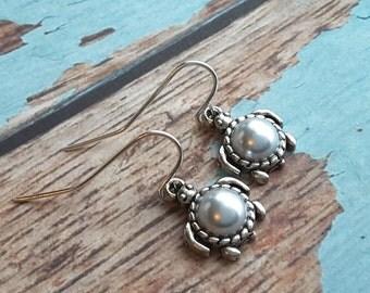 Silver Sea Turtle Drops