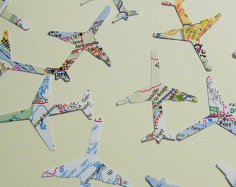 Airplane Die Cuts from Atlas - Confetti - 100ct - Cardmaking - Scrapbook - Birthday Party - Destination - Scatter - Travel - Going Away