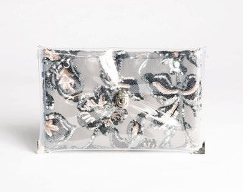 Silver Sparkling Changing Clutch