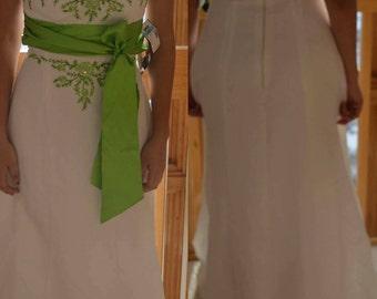 Intricate green formal dress
