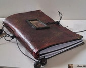 Vintage Inspired Leather Faux Dori, Leather Faux Dori Travelers Notebook,Leather Art Journal
