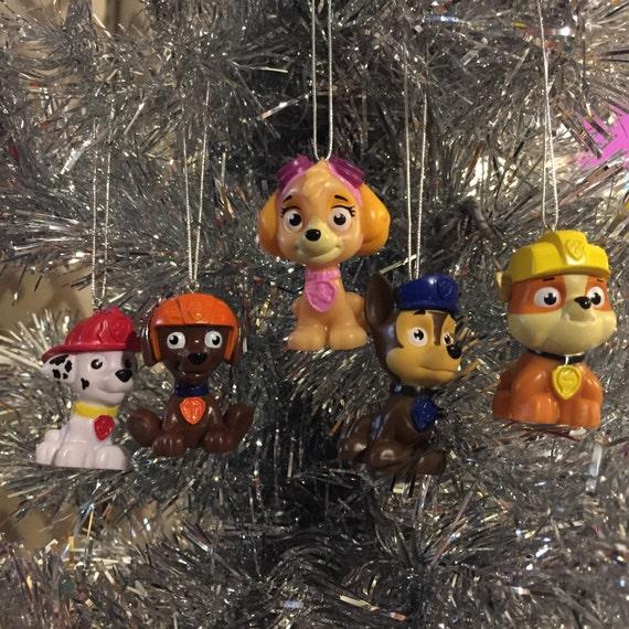 Nickelodeon Paw Patrol Set Of FIVE Custom Christmas Ornaments