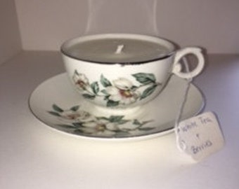 White Floral Cup