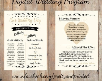 Digital Wedding Program