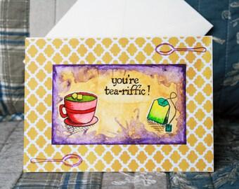 """Hand made """"te-riffic""""  wish card"""